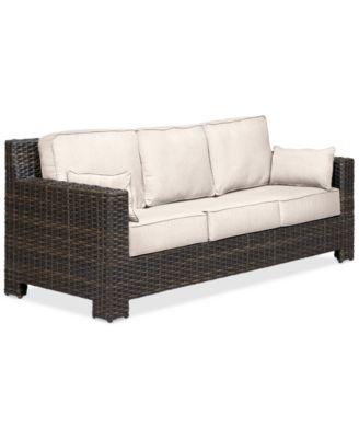 Viewport Wicker Outdoor Sofa: With Custom Sunbrella® Colors, Created For  Macyu0027s
