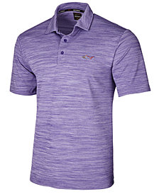 Attack Life by Greg Norman Men's 5 Iron Space-Dye Performance Golf Polo, Created for Macy's