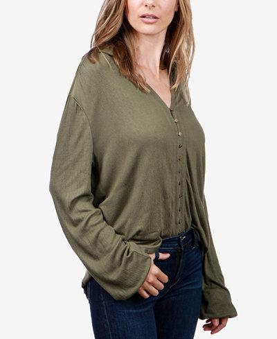 Lucky Brand Textured Poet Shirt