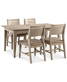 CLOSEOUT! Kips Cove Dining Furniture, 5-Pc. Set (Dining Table & 4 Side Chairs)