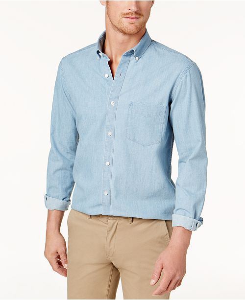 a5cb16e3d6 Club Room Men's Chambray Shirt, Created for Macy's & Reviews ...