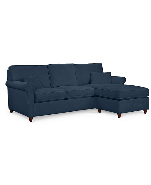 Furniture Lidia 82 Fabric 2 Pc Chaise Reversible Sectional Sofa With Storage Ottoman Custom Colors Created For Macy S