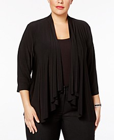 Plus Size Swing Cardigan
