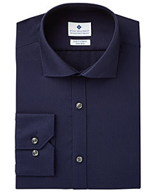 Ryan Seacrest Distinction™ Men's Slim-Fit Stretch Non-Iron Navy Convertible Cuff Dress Shirt, Created for Macy's