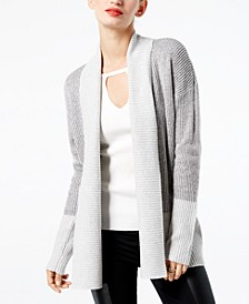 INC Colorblocked Open-Front Cardigan, Created for Macy's