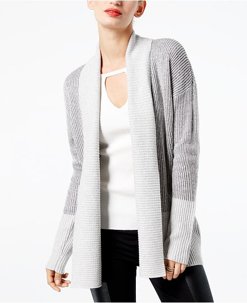 INC International Concepts I.N.C. Colorblocked Open-Front Cardigan, Created for Macy's