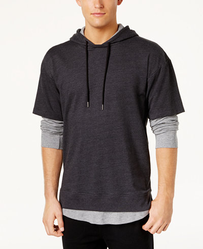American Rag Men's Layered-Look Hoodie, Created for Macy's