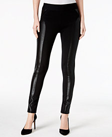 I.N.C. Metallic-Print Moto Leggings, Created for Macy's