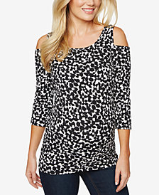 Motherhood Maternity Cold-Shoulder Top