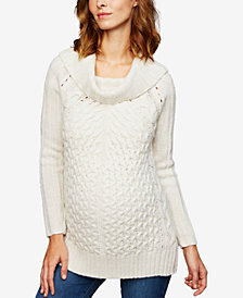 LINE Maternity Cowl-Neck Sweater