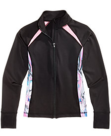 Ideology Colorblocked Active Jacket, Big Girls, Created for Macy's