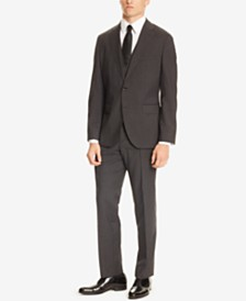 BOSS Men's Regular/Classic-Fit Micro Check Three-Piece Suit