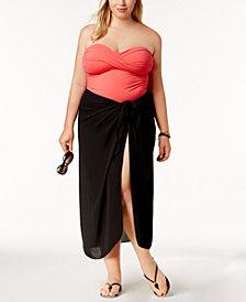 Dotti Plus Size Cover Up, Self-Tie Pareo Sarong