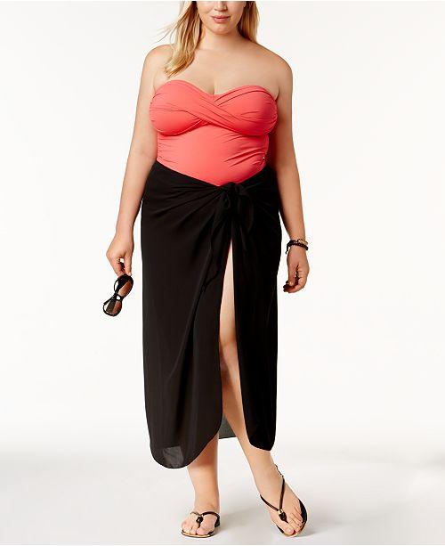 e81fa723b4f02 Dotti Plus Size Cover Up, Self-Tie Pareo Sarong & Reviews ...