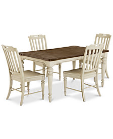 Barclay Expandable Dining Room Furniture, 5-Pc. Set (Dining Table & 4 Side Chairs)
