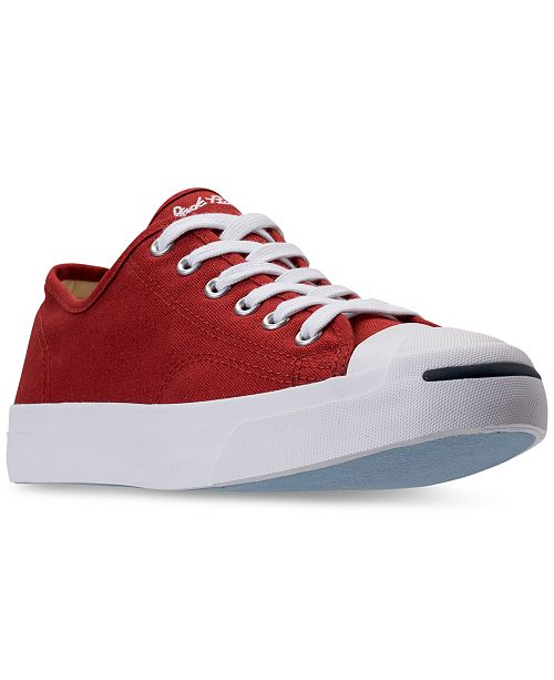 b9029aad9daa ... Converse Men s Jack Purcell Low-Top Casual Sneakers from Finish ...