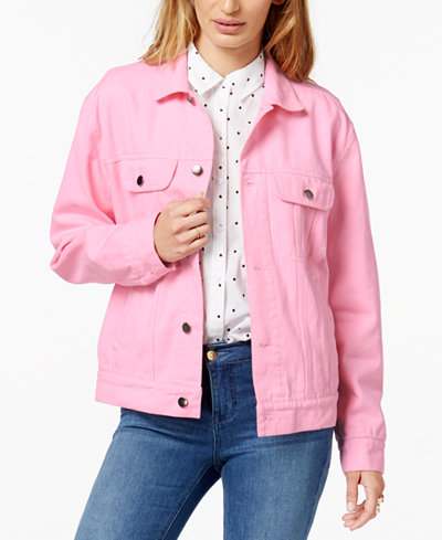 The Style Club Cotton Logo Graphic Denim Jacket