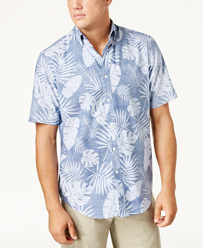 Club Room Men's Reverse Floral-Print Shirt, Created for Macy's