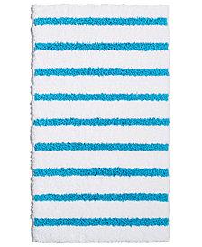 "LAST ACT! Charter Club Elite Stripe 19.3"" x 34"" Fashion Bath Rug, Created for Macy's"