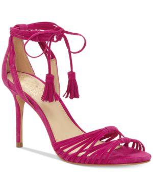 Vince Camuto Stellima Ankle-Tie Tassel Dress Sandals Women's Shoes 6587709