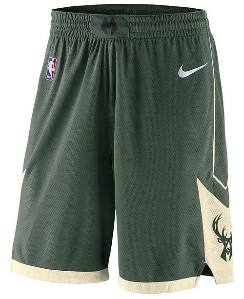 Nike Men's Milwaukee Bucks Icon Swingman Shorts