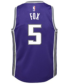De'Aaron Fox Sacramento Kings Icon Swingman Jersey, Big Boys (8-20)