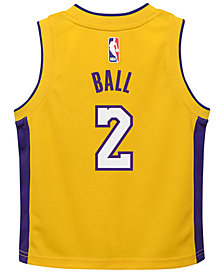Nike Lonzo Ball Los Angeles Lakers Icon Replica Jersey, Toddler Boys