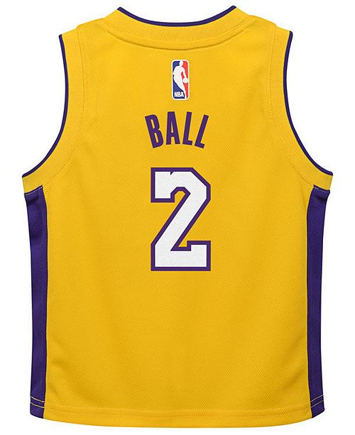 ... Nike Lonzo Ball Los Angeles Lakers Icon Replica Jersey 703170221