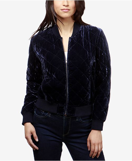 997d6e8c Lucky Brand Quilted Velvet Bomber Jacket & Reviews - Jackets ...