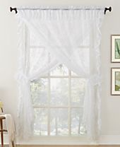 Lichtenberg No. 918 Alison Priscilla 5-Pc. Ruffled Floral Lace Rod-Pocket Window Treatment Sets