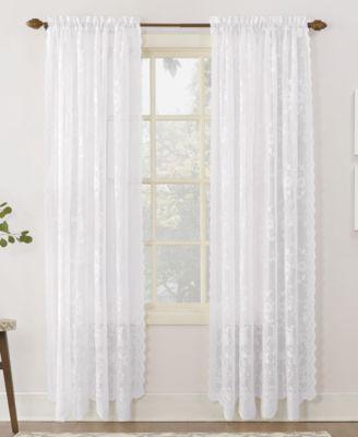 "No. 918 Alison Floral Lace 58"" x 95"" Rod-Pocket Window Panel"