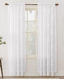 """Lichtenberg No. 918 Alison Floral Lace 58"""" x 84"""" Rod-Pocket Window Panel"""