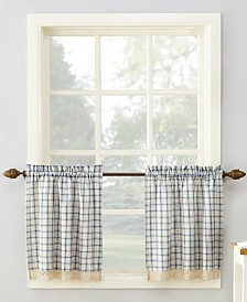 """Lichtenberg No. 918 Maisie Plaid 54"""" x 24"""" Rod-Pocket Kitchen Curtain Tier Pair"""