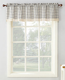 "Lichtenberg No. 918 Maisie Plaid 54"" x 14"" Rod-Pocket Kitchen Curtain Valance"