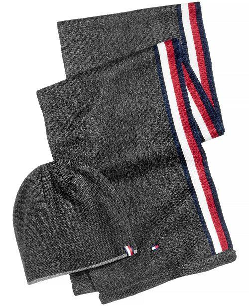 4bba6551a97d3 Tommy Hilfiger Men's Hat & Scarf Set & Reviews - Hats, Gloves ...