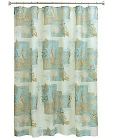 "Bacova Coastal Moonlight 70"" x 72"" Graphic-Print Shower Curtain"