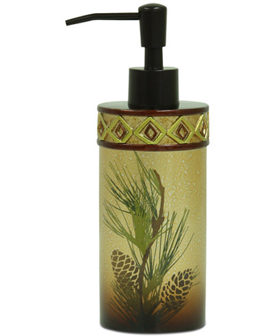 Bacova Pinecone Silhouettes Lotion Dispenser