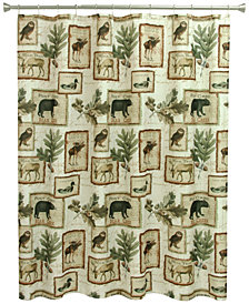 "Bacova Lodge Memories 70"" x 72"" Graphic-Print Shower Curtain"