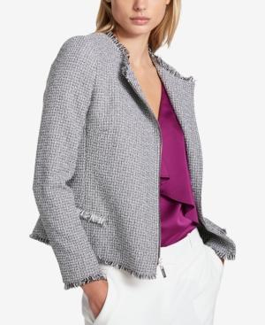 Dkny Tweed Moto Jacket...