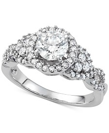 Diamond Engagement Ring (1-1/2 ct. t.w.) in 14k White Gold