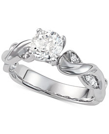 Diamond Twist Engagement Ring (1-1/10 ct. t.w.) in 14k White Gold