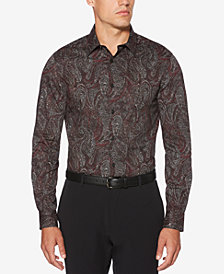 Perry Ellis Men's Speckled Paisley-Print Shirt