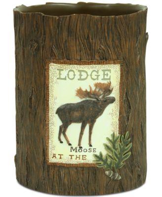Lodge Memories Wastebasket