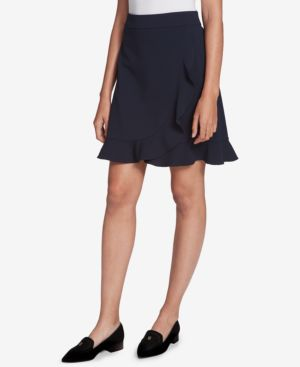 Tommy Hilfiger Flared Ruffle-Trim Skirt, Created for Macy's thumbnail