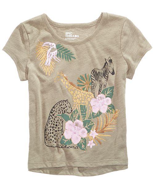 c1b4443f5 Epic Threads Sequin Animal-Print T-Shirt