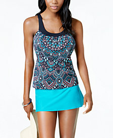 Coco Reef Mojave Bra-Sized Underwire Tankini Top & Swim Skirt