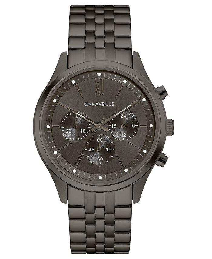 Caravelle - Men's Chronograph Gunmetal Stainless Steel Bracelet Watch 41mm