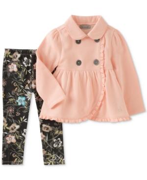 Calvin Klein 2Pc TulipHem Jacket  Leggings Set Toddler Girls (2T5T)