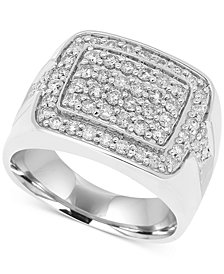 Men's Diamond Cluster ring (1-1/2 ct. t.w.) in 10k White Gold