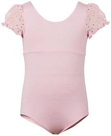 Flo Dancewear Embellished Puff-Sleeve Leotard, Little Girls & Big Girls